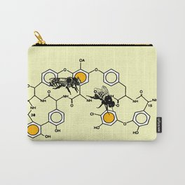 Bees making honey on macromolecular structure as a bee house  Carry-All Pouch