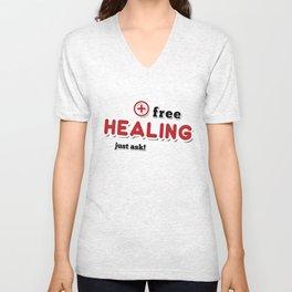 Free Healing Unisex V-Neck
