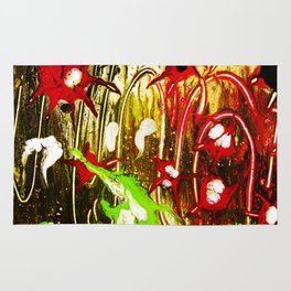 abstraction. fireworks Rug