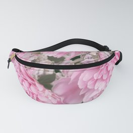 Pink Bouquet On A Black Background  #society6 #buyart Fanny Pack