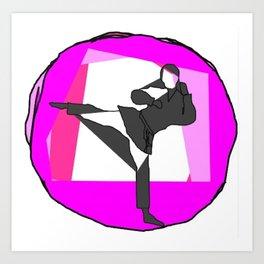 karate martial arts Art Print