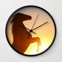 horse silhouette Wall Clock