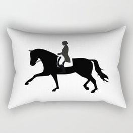 Dressage Rider Rectangular Pillow