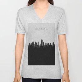 City Skylines: Philadelphia (Alternative) Unisex V-Neck