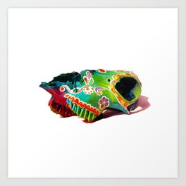 Colorsfull sheep skull Art Print