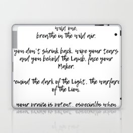 Wild One, Breathe: The Manifesto Laptop & iPad Skin