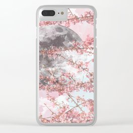 Spring Moon Clear iPhone Case