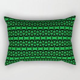 Dividers 02 in Green over Black Rectangular Pillow