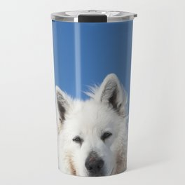 White Husky Travel Mug