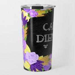 Crescent Bloom | Lavender and lemons  Travel Mug