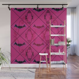 Goth Bat pattern Wall Mural