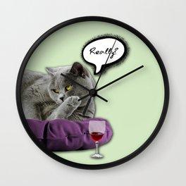 DRUNKY CAT Wall Clock