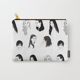 Keeping Up (Black and White) Carry-All Pouch