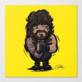 Roman Reigns: Pro Wrestler Doodle Canvas Print