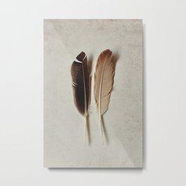 Feathered Pair Metal Print