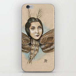 MOTH LADY iPhone Skin