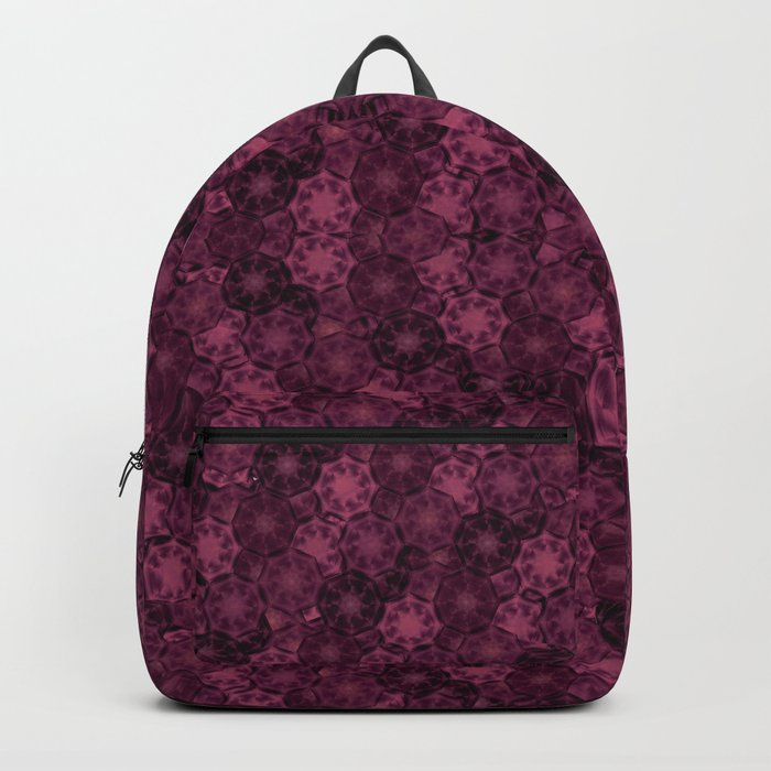 Romantic Floral Red Pattern Backpack