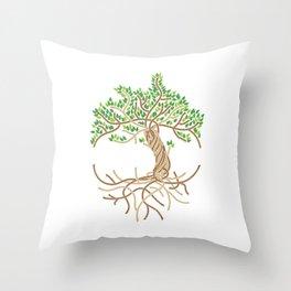 Rope Tree of Life. Rope Dojo 2017 white background Throw Pillow