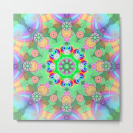 Summer dance, abstract pattern kaleidoscope Metal Print