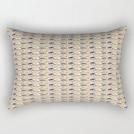 Steve Buscemi's Eyes Tiled Pattern Comic Rectangular Pillow