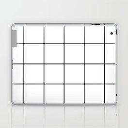 black grid on white background Laptop & iPad Skin