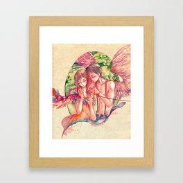 Red String Framed Art Print