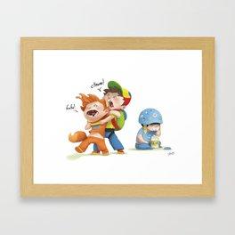browser wars Framed Art Print