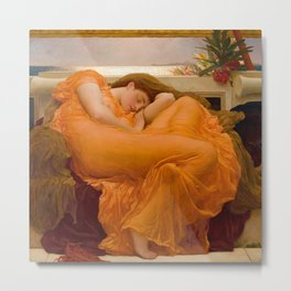 Flaming June, by Frederic Lord Leighton Metal Print