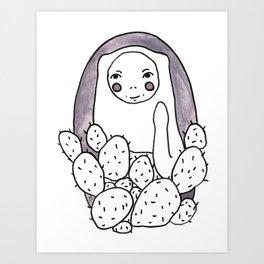 Cheeky Cactus Art Print