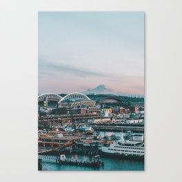 Seattle & Mount Rainier Canvas Print