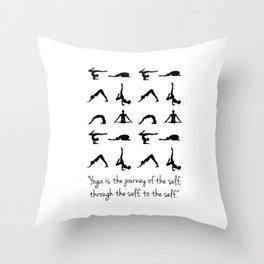 YOGA QUOTES Throw Pillow
