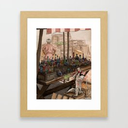 Visit to the Market Framed Art Print