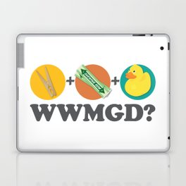 Peg + Gum + Duck = What would MacGyver Do? Laptop & iPad Skin