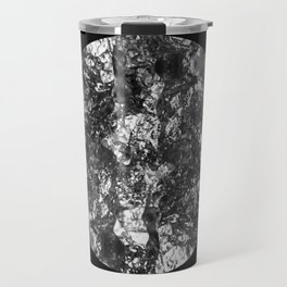 Silver Moon - Abstract, textured silver foil lunar design Travel Mug