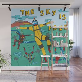 Skydive in the sky Wall Mural