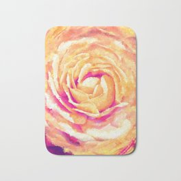 Abstract Colorful Rose Flower Artwork Bath Mat