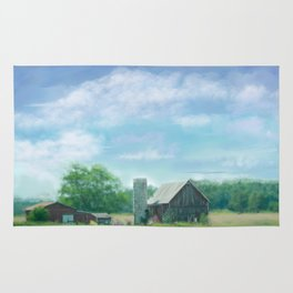 Farmstead Under Blue Skies Rug