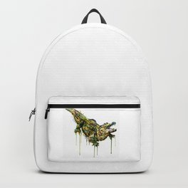 Alligator Watercolor Painting Backpack