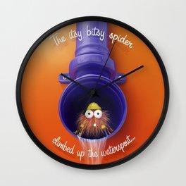 Itsy Bitsy Spider - Nursery Rhyme inspired artwork Wall Clock