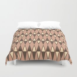 Mid Century Modern Diamond Pattern Netrals 232 Duvet Cover