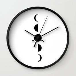 MOON VIBES (phases of the moon) Wall Clock