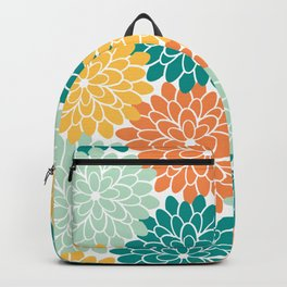 Petals in Orange, Mint, Apricot and Jade Backpack