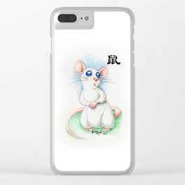 Chinese Zodiac Year of the Rat Clear iPhone Case