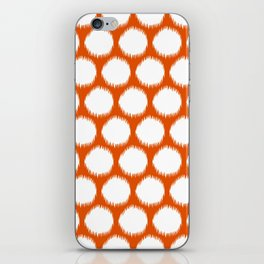 Persimmon Asian Moods Ikat Dots iPhone Skin
