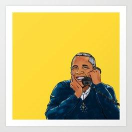 A Barry important call Art Print