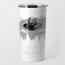 I Want To Believe in Kang and Kodos Travel Mug