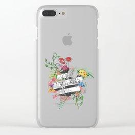 Like I Fucking Care Clear iPhone Case