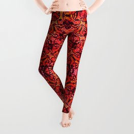 Floral Fireworks Pattern Leggings