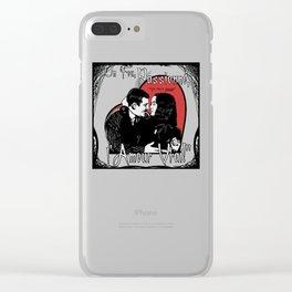 """Un Fou, Passionné, l'Amour Vrai!"" (One Crazy, Passionate, True Love!) Clear iPhone Case"