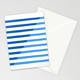 Beach Stripes Blue Stationery Cards